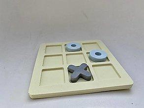 Dekorácie - Betónová hra Tic-Tac-Toe - 13124186_