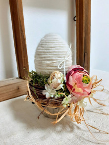 Dekorácie - Veľkonočná dekorácia - Vajíčko - 13123175_