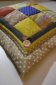 Úžitkový textil - Vankúše - patchwork - 13127194_