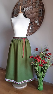 Sukne - ľanová sukňa - 13128873_