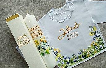 Detské oblečenie - Jar sa prebúdza spod snehu (jednoduchšia verzia)- set do krstu - 13131352_