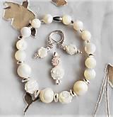 Sady šperkov - Biela perleť - 13129142_
