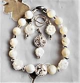 Sady šperkov - Perleť biela II. - 13129233_