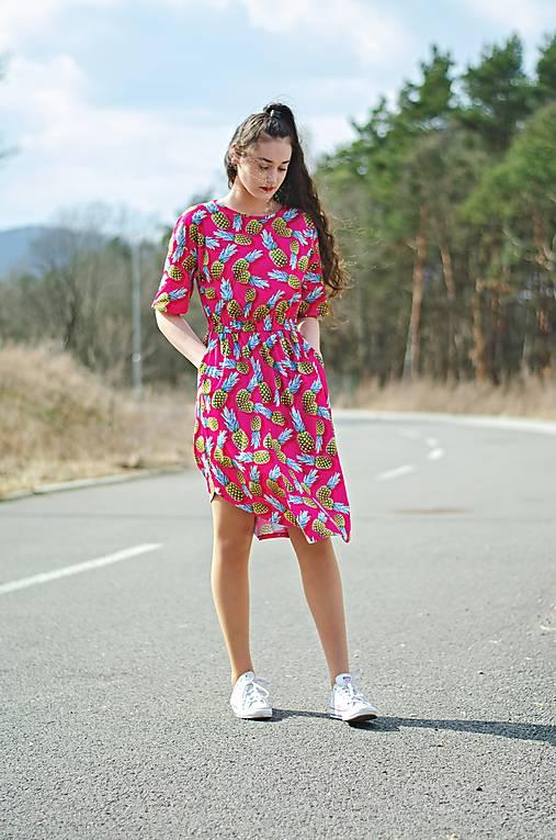 Šaty - Ananásové šaty KESSY  - 13128163_