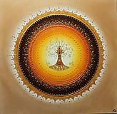 STROM ŽIVOTA (oranž) 50 x 50