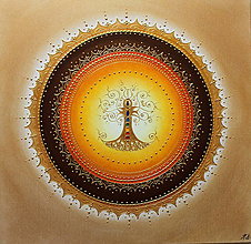 Obrazy - STROM ŽIVOTA (oranž) 50 x 50 - 13130991_