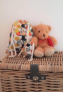 Detské tašky - Opičky - vrecúško na papučky, pyžamko a tajomstvá - 13128326_