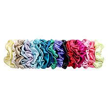 Ozdoby do vlasov - Scrunchie - veľká gumička do vlasov, 100% hodváb - 13132018_