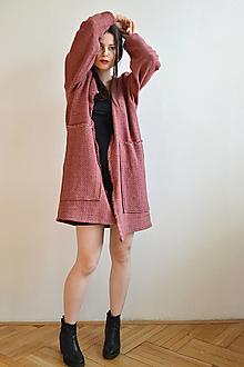 Kabáty - Malinovo červený jarný kabát - 13130414_