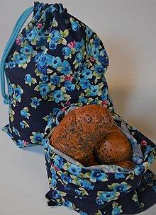 Úžitkový textil - Bavlnené vrecko (23 cm x 32 cm - Modrá) - 13130541_