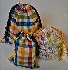 Úžitkový textil - Sada bavlnených vrecúšok (Vidiecke) - 13130763_