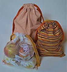 Úžitkový textil - Sada bavlnených vrecúšok (Pásiky) - 13130797_