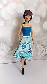 Hračky - Modro-tyrkysové šaty s čínskym vzorom - 13129546_
