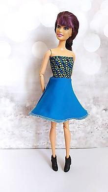 Hračky - Modré šaty pre Barbie - 13129473_