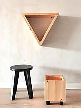 "- Trojset drevených stojanov č. 5 pre ""izbovky"" z kolekcie ""YinYang"" - 13130993_"