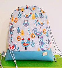 Detské tašky - Detský nepremokavý batôžtek Folk Birds GREY - 13130436_
