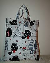 Nákupné tašky - nákupná - mačičky - 13128038_