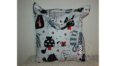 Nákupné tašky - nákupná - mačičky - 13128036_