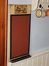 Tabuľky - Magnetická tabuľa - Vintage TOYS - 13136688_