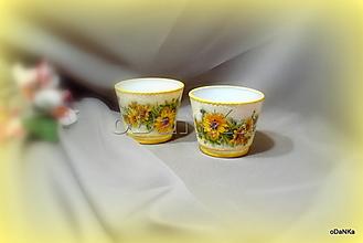 Svietidlá a sviečky - svietnik Slnečnice - 13134645_