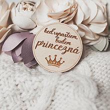 Odznaky/Brošne - princezná - brošňa (svetlá verzia 4cm) - 13135172_