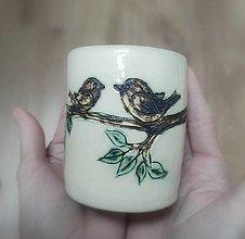 Nádoby - Keramický pohár - Keď príde láska - 13134779_