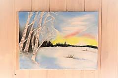 Obrazy - Brezy v zime - 13135946_