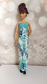 Hračky - Tyrkysový overal s čínskym vzorom pre Barbie - 13133925_