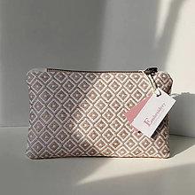 Kabelky - Ručne vyšívaná elegantná kabelka do ruky - misty rose - 13133037_