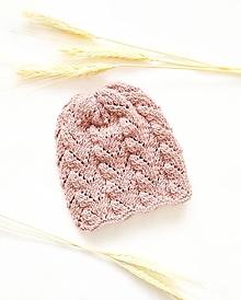 Detské čiapky - Merino čiapočka - Púštna ruža - 13133721_