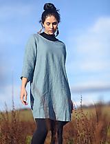 Šaty - lněné šaty hladké Baltik - 13137254_