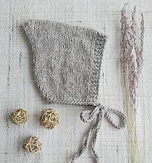 Detské čiapky - Čepček Hugo - merino, alpaka, hodváb - 13134544_