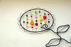 Dekorácie - drôtovaný kvietok (Väčší) - 13134984_