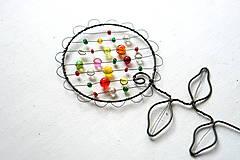 Dekorácie - drôtovaný kvietok (Väčší) - 13134994_