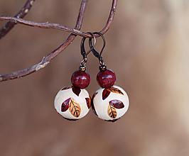 Náušnice - Náušnice - Red Leaf.beads - 13138899_