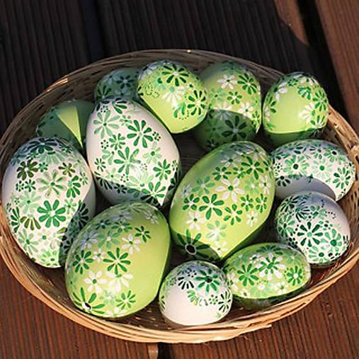 Dekorácie - Slepičí kraslice - v odstínech zelené - 13141171_