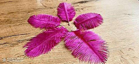 Galantéria - Pierko ozdobné Marabou - 15-20 cm (Ružová) - 13140023_