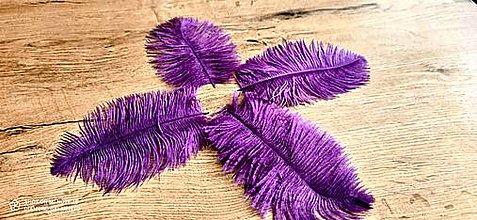 Galantéria - Pierko ozdobné Marabou - 15-20 cm (Fialová) - 13140029_