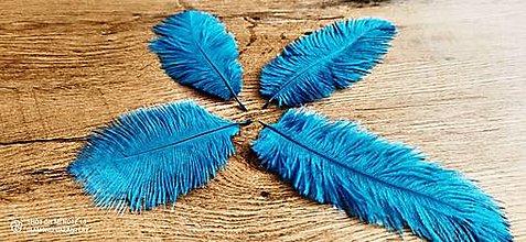 Galantéria - Pierko ozdobné Marabou - 15-20 cm (Tyrkysová) - 13140030_