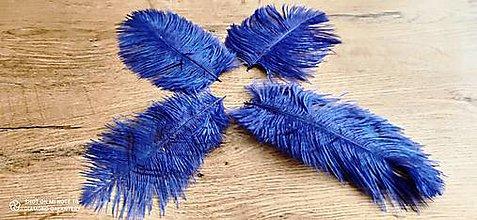 Galantéria - Pierko ozdobné Marabou - 15-20 cm (Modrá) - 13140031_