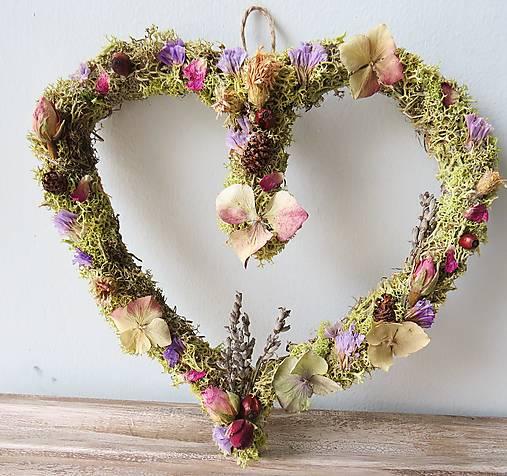 """Dekorácie - Kvetinové srdce """"Liliana"""" - 13138836_"""