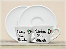 Nádoby - Ristretto šálka s podšálkou na kávu (50 ml) - Taliansko - 13141817_