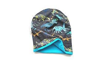 """Detské čiapky - Dvojvrstvová čiapka """"dino style"""" - 13137908_"""
