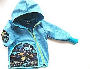 """Detské oblečenie - Softshellka """"dino style"""" - 13137920_"""