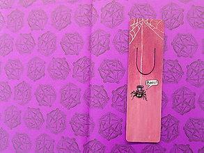 Iné doplnky - Kolekcia Pavúčik-Záložka do knihy - 13138761_