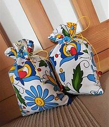 Úžitkový textil - Vrecúško folk - 13137844_