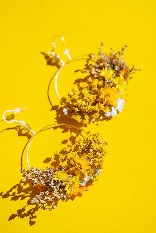 "Kvetinové kruhové náušnice ""dotyk slnka 1"""