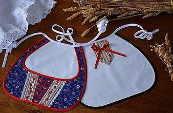 Iné doplnky - Svadobné podbradníky - FOLK viazačka modrá - 13138581_