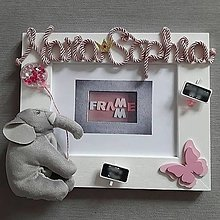 Detské doplnky - Detský fotorámik s menom pre dievčatko - 13141521_