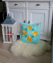 Úžitkový textil - Vankúš obojstranný, tulipány - 13139869_